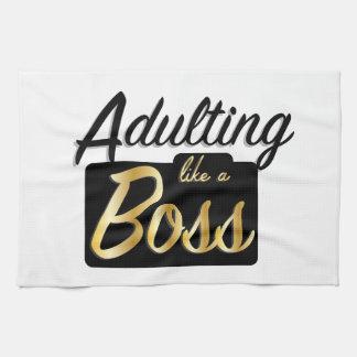 Adulting like a Boss | Kitchen Towel