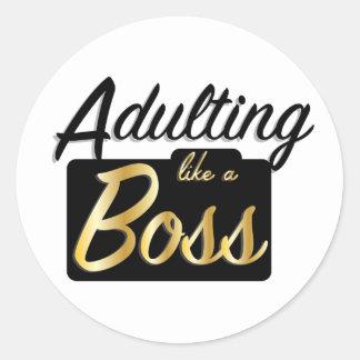 Adulting like a Boss   Sticker
