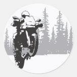 Adv Riding Round Sticker