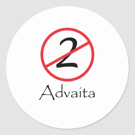 Advaita - Not Two Round Sticker