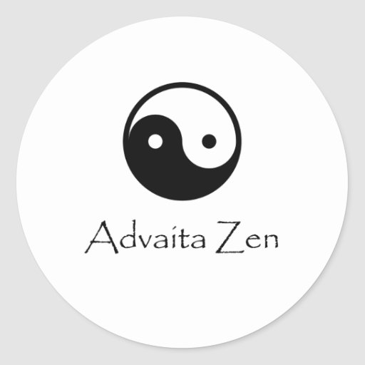 Advaita Zen / Yin & Yang -- knowing Oneness. Sticker