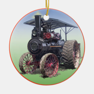 Advance Steam Traction Engine Christmas Ornament