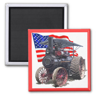 Advance Steam Traction Engine Square Magnet