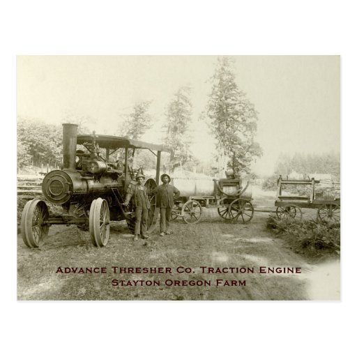 Advance Thresher Co. Steam Traction Engine Postcards