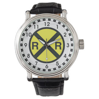 Advance Warning Sign-Railroad Crossings Wristwatches