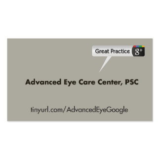 Advanced Eye Care Center Business Card Templates