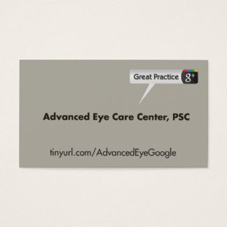 Advanced Eye Care Center Business Card