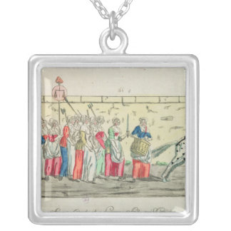 Advanced guard of the women going to silver plated necklace