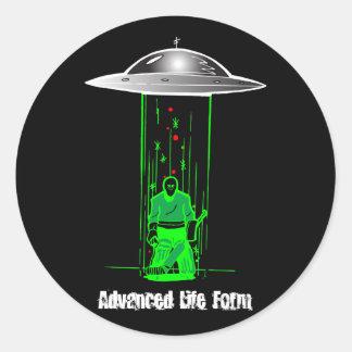 Advanced Life Form Round Sticker
