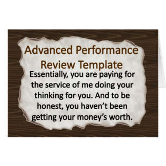 Advanced Performance Review Techniques Note Card