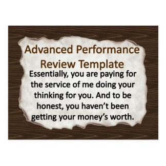 Advanced Performance Review Techniques Postcard