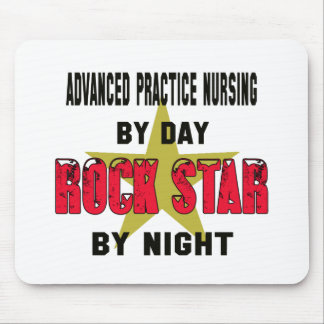 Advanced practice nursing by Day rockstar by night Mouse Pad