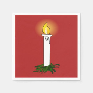Advent Candle Red Standard Cocktail Napkin Disposable Napkins