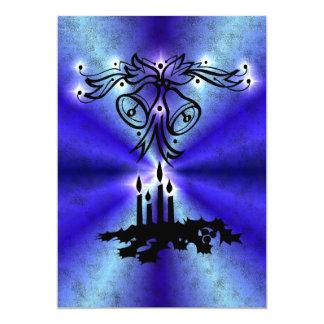 Advent, Christmas kind Deco on blue green Rainbow 13 Cm X 18 Cm Invitation Card