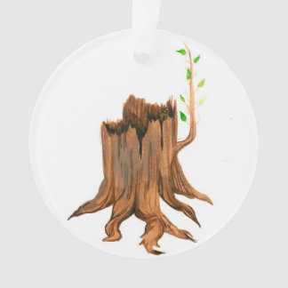 Advent Jesse Tree Stump Ornament