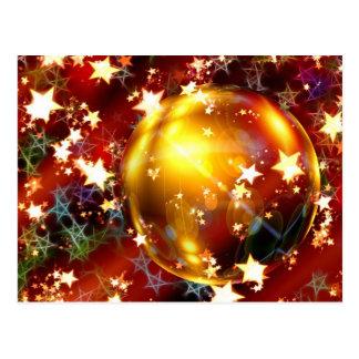 Advent Star Christmas Ornament Postcard