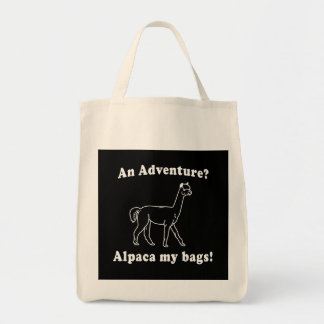 Adventure Alpaca Tote Bag