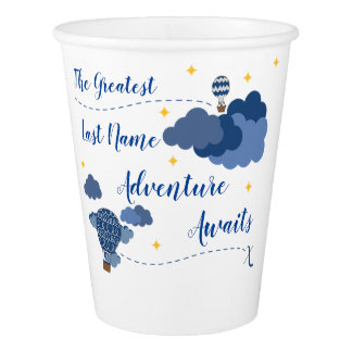 Adventure Awaits Baby Shower Design Paper Cup