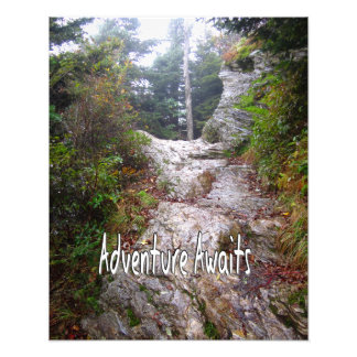 Adventure Awaits just over the Trail Photo Print