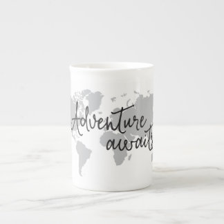 Adventure Awaits Map Mug