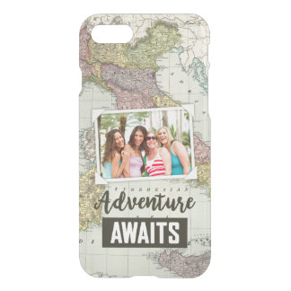 Adventure Awaits Map | Upload Your Own Photo iPhone 8/7 Case