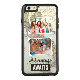 Adventure Awaits Map | Upload Your Own Photos OtterBox iPhone 6/6s Plus Case