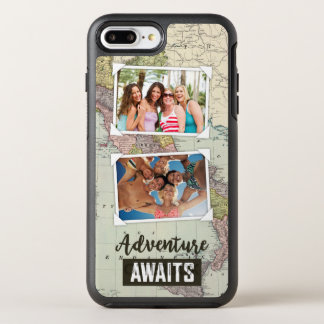 Adventure Awaits Map | Upload Your Own Photos OtterBox Symmetry iPhone 8 Plus/7 Plus Case