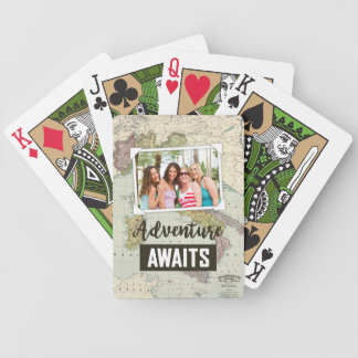 Adventure Awaits Map | Upload Your Own Photos Poker Deck