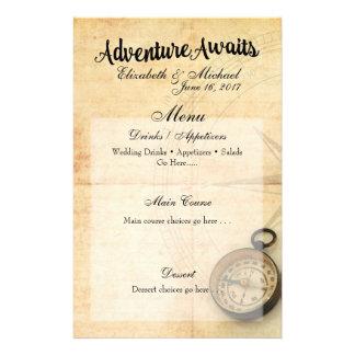 Adventure Awaits Menu Card 14 Cm X 21.5 Cm Flyer