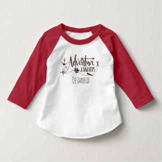 """Adventure Awaits"" Nautical Personalized T-Shirt"
