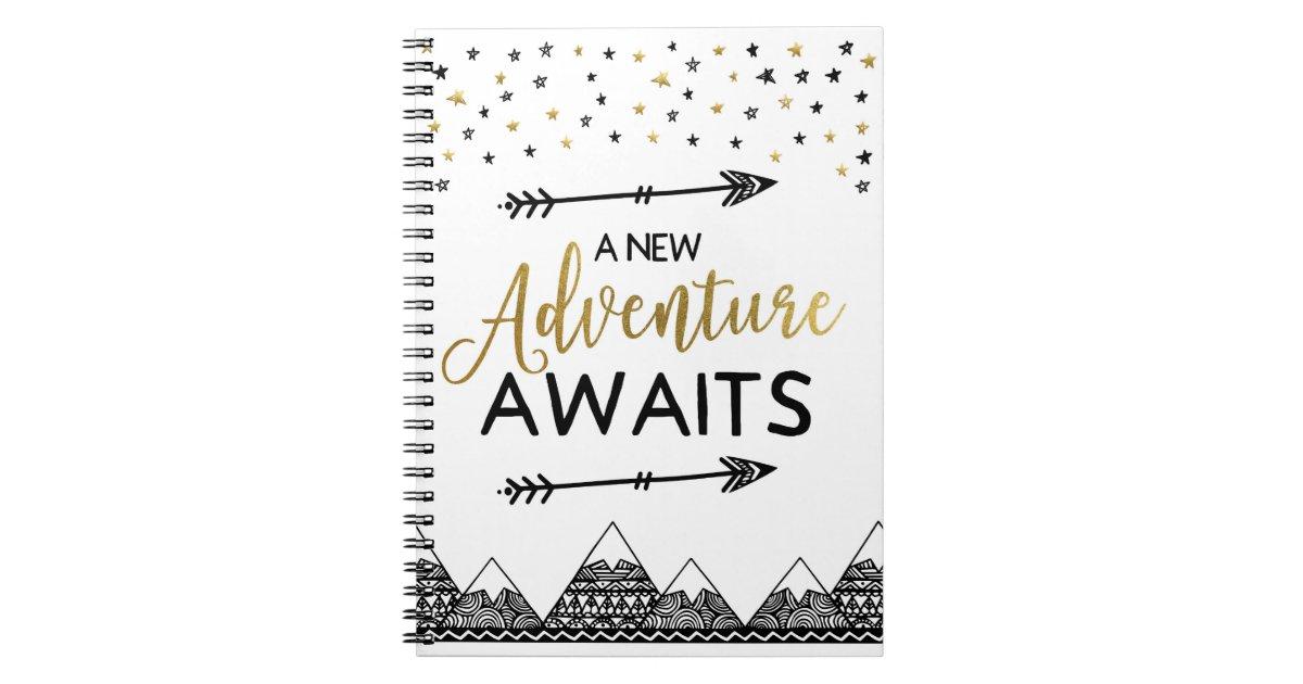 Adventure Awaits Notebook Zazzle Co Uk