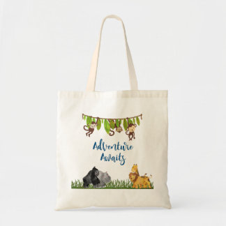 Adventure Awaits Safari Jungle Animal Tote Bag