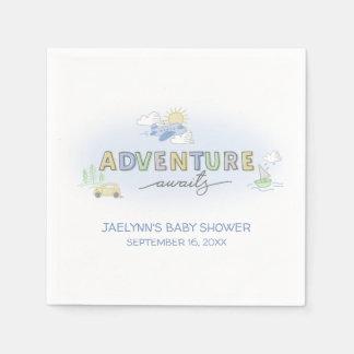 Adventure Awaits Travel - Personalised Disposable Serviettes
