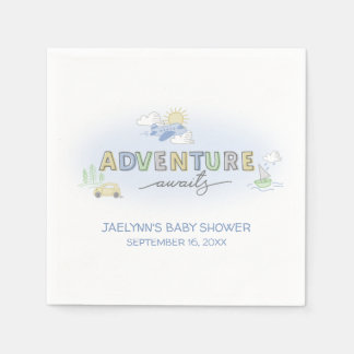 Adventure Awaits Travel - Personalized Disposable Serviettes