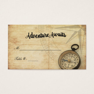 Adventure Awaits Wedding Place Card