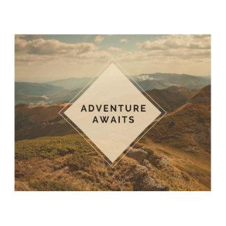 "Adventure Awaits Wood Art 10""x 8"""