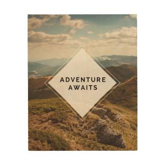 "Adventure Awaits Wood Art, 8"" x 10"" Wood Print"