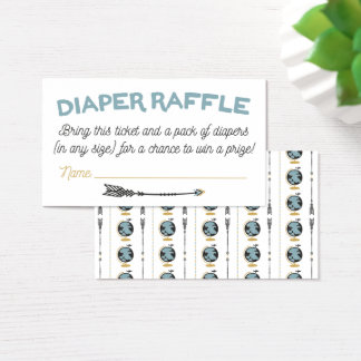 Adventure Baby Shower Diaper Raffle Card
