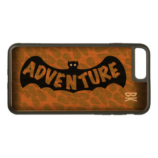 ADVENTURE BAT EMBLEM ORANGE by Slipperywindow Carved iPhone 8 Plus/7 Plus Case