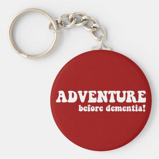 adventure before dementia key chain