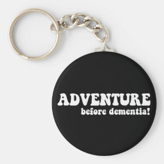 adventure before dementia basic round button key ring