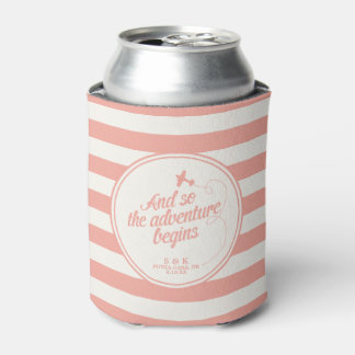 Adventure Begins | Destination Wedding - Pink Can Cooler