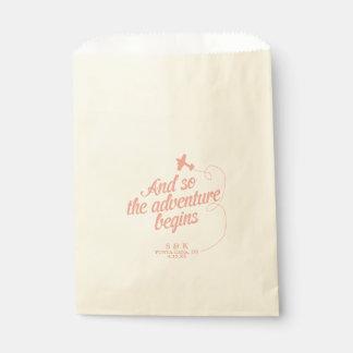 Adventure Begins | Destination Wedding - Pink Favour Bags