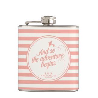 Adventure Begins   Destination Wedding - Pink Flasks