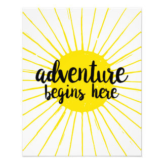 Adventure Begins Here Nursery Art Photo Print