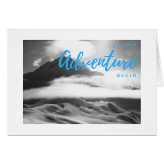 """Adventure"" Blank Inspirational Greeting Card"