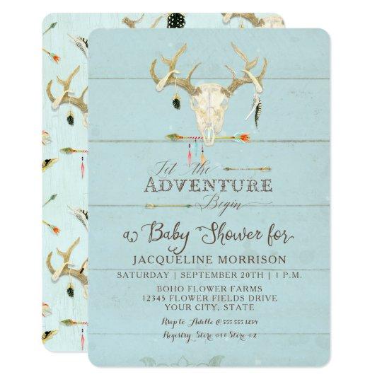 Adventure Boy Baby Shower Teepee Wood Arrows Deer