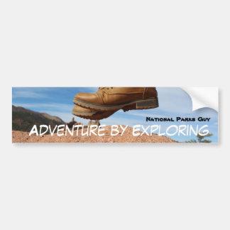 Adventure By Exploring Bumper Sticker
