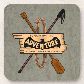 ADVENTURE CHALLENGE EMBLEM by Slipperywindow Coaster