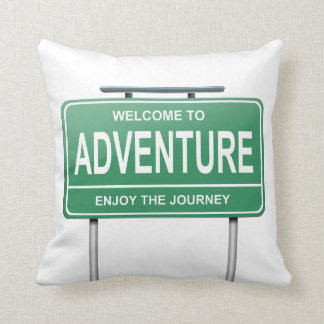 Adventure concept. cushion